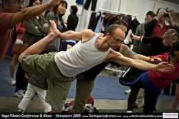 Man doing a yoga pose