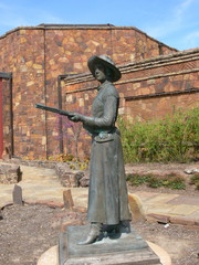 Belle Starr Statue at the Woolaroc Ranch