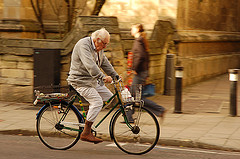 Cycling is a low impact exercise though try not to use reading glasses for this.