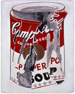 Small Torn Campbells Soup Can, 1962