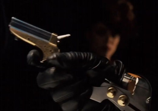 Sherlock Holmes (2009), Professor Moriarty's Pepperbox released from his wrist rig
