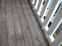My Deck Before.  Not a black and white picture!