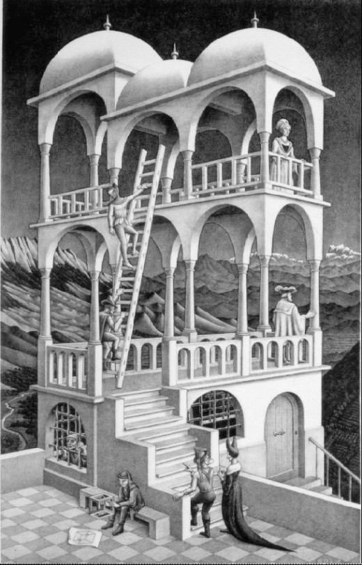 Sometimes, all you have to do is think about things a little differently. And then the possibilities are endless. Take it from M. C. Escher. That guy knew how to play with perspective.