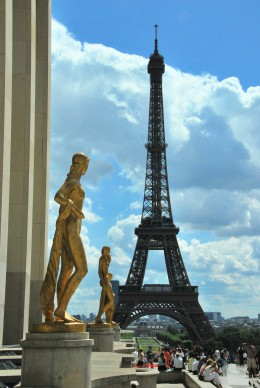 The Eiffel Tower from the Chaillot Palace