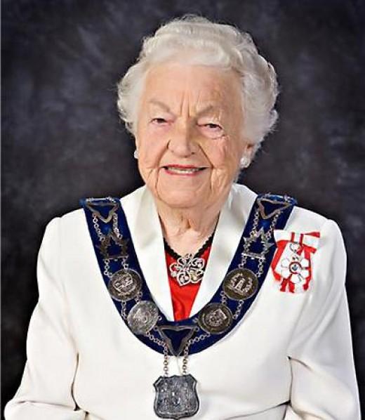 Hazel McCallion, mayor of Mississauga, CA
