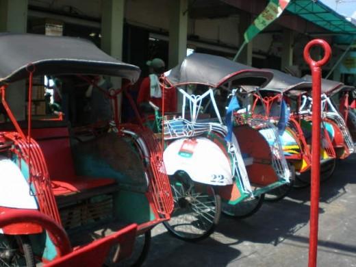 Becak Yogyakarta (Yogyakartan pedicabs)