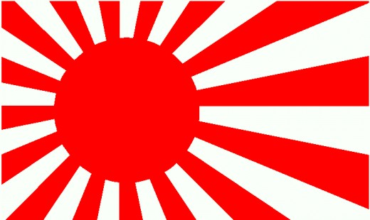 Raising sun - Japan navy flag