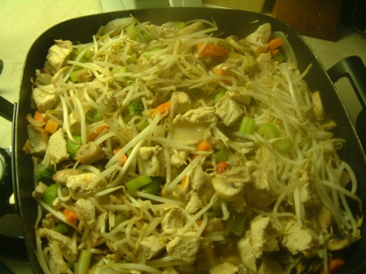 Chicken Chop Suey Sue  made in an electric Frying Pan
