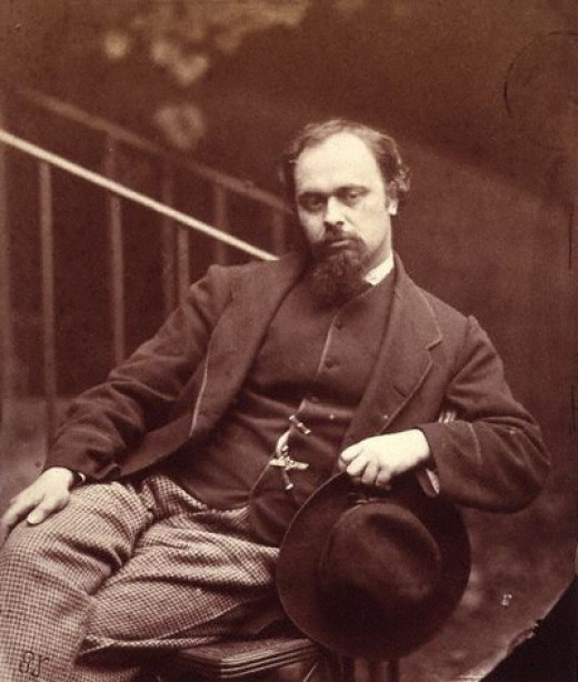 "Dante Gabriel Rossetti. The photographer, Charles Dodgson, is better known to us as Lewis Carroll, the man who wrote ""Alice in Wonderland"""
