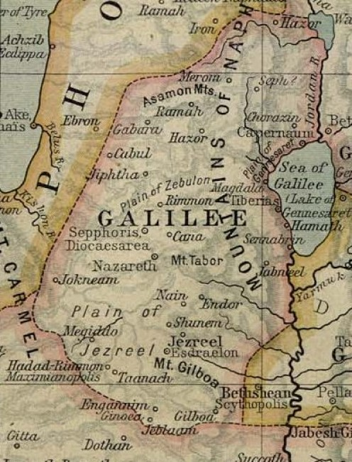 'Historical maps by William R. Shepherd'. Public domain  / copyright expired. See: http://en.wikipedia.org/wiki/File:Ancient_Galilee.jpg