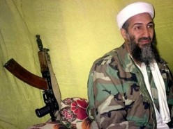 Bin Laden was never far away from a weapon.