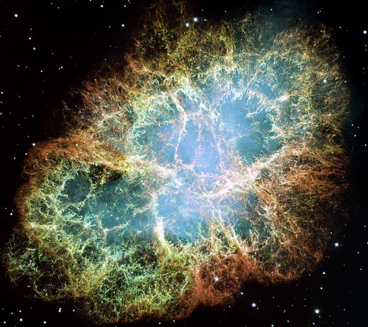 Crab Nebula - when a star explodes
