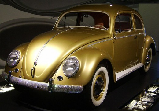 The famous 1,000,000th VW Beetle.