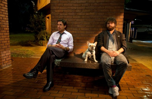 Peter Highman (Robert Downey Jr.) and Ethan Tremblay (Zach Galifianakis) in Due Date