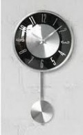 A combination of modern and classical clock such as this pasted on the wall is a good idea.