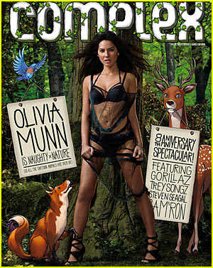 Olivia Munn is naughty for nature (Complex Magazine Cover).