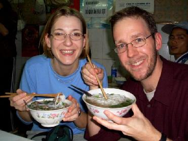 Foreigners with Pho