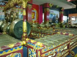 A set of gamelan (Javanese musical instruments)
