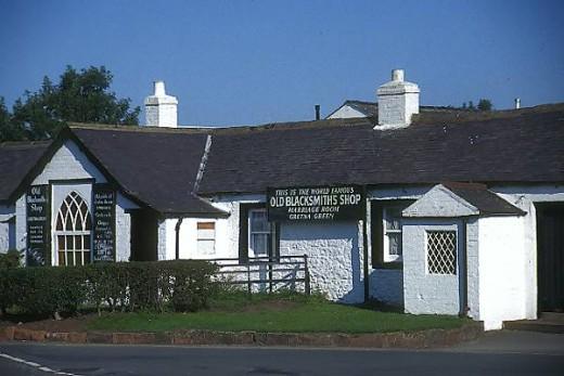 The Old Blacksmith's shop at Gretna Green.