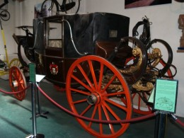 A 19th century coach on display in the museum.