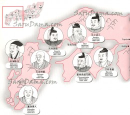 Pictoral Map of Sengoku-Era Daimyos