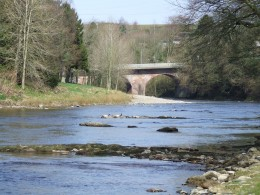 The nearby River Esk