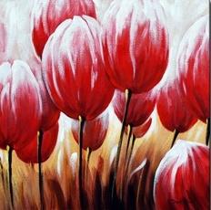 Flower canvas - Oil on canvas