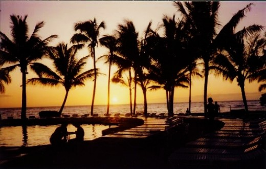 Our first sunset in Hawaii...
