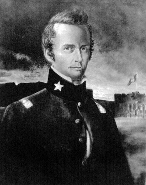 William Barret Travis, died at the Battle of the Alamo in 1836.