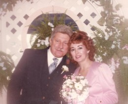 My mom and her wonderful husband Bob on their wedding day. Back in the 80's.