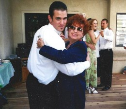 I adore this picture. My mom is dancing with my oldest son at my other son's wedding. She loved to dance and so did he.