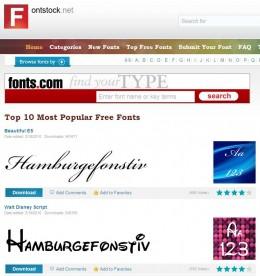 fontstock website image