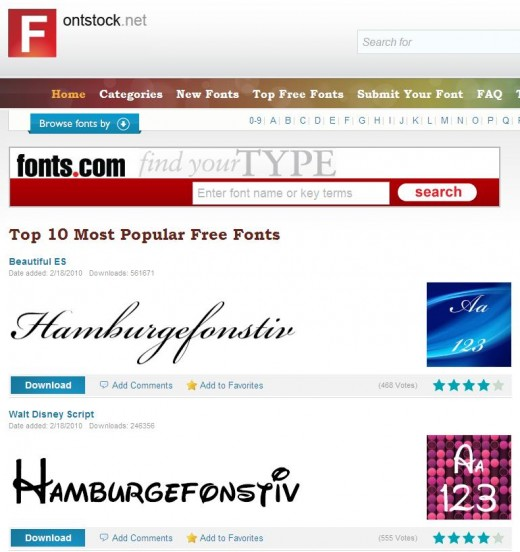 fontstock website image