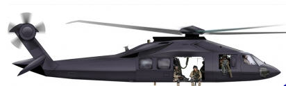 How the stealth helicopter looks