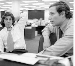 Washington Post reporters Carl Bernstein and Bob Woodward