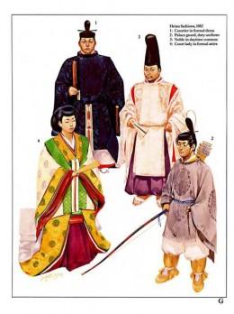 Fashion in Heian period.
