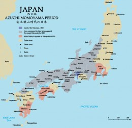 Japan in the late 16th century.