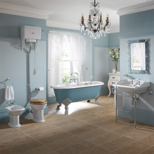 themed bathroom suite for a traditional appeal
