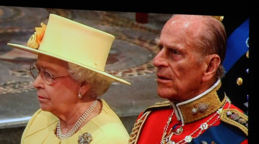 Queen Elizabeth II and Prince Philip at wedding of Prince William and Catherine Middleton deedsphoto