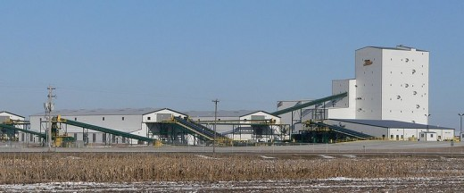 Monsanto  corn seed factory