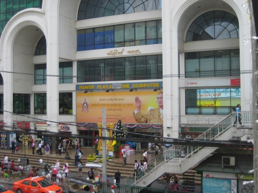 Pantip Plaza for computers, electronics and pirated movies and software is right across Pratunam Market on Petchburi Road