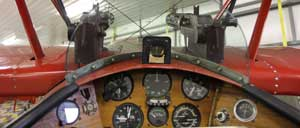 The cockpit of the Fokker Dr1 triplane