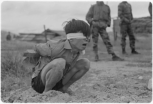 Captivity and torture awaits this Vietcong
