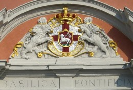 Arms detail at St. Salvator's Basilica, Pruem