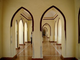 Arched corridor at Shah Najaf Imam Bargah