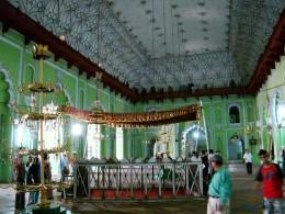 The tomb of Nawab Asaf-ud-Daula inside Barra Imam Bargah