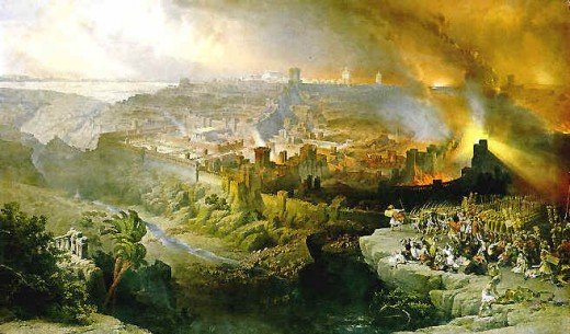 This is an image of the end of the world as seen by a Biblical illustrator.