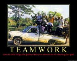 It's all about teamwork - it's all about having a common goal and travelling there in style...together