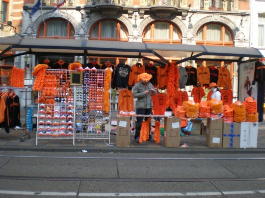 Many forms of orange merchandise