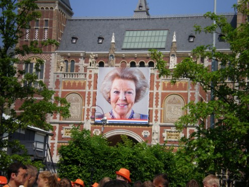 Portrait of Queen Beatrix of the Netherlands at Rijkmuseum Amsterdam